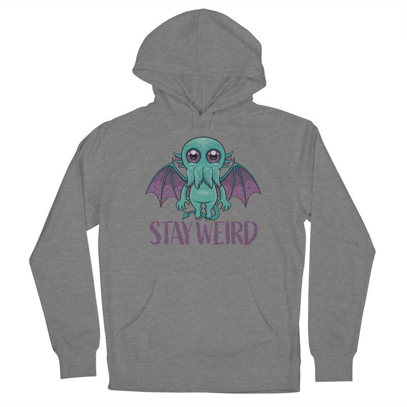 Stay Weird Cute Cthulhu Monster Women's Pullover Hoody by Fizzgig's Artist Shop