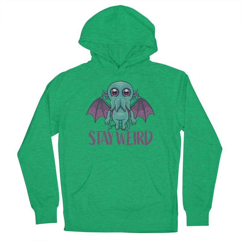 Stay Weird Cute Cthulhu Monster Men's Pullover Hoody by Fizzgig's Artist Shop