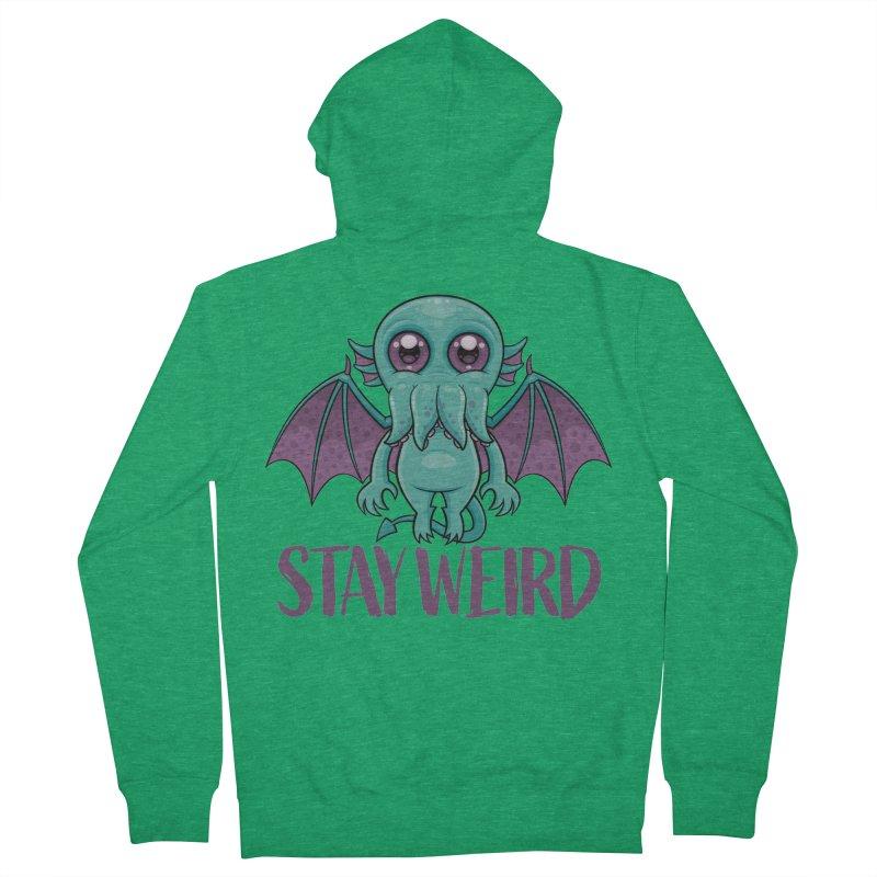 Stay Weird Cute Cthulhu Monster Men's Zip-Up Hoody by Fizzgig's Artist Shop