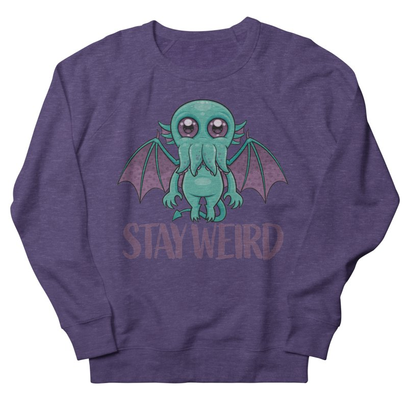 Stay Weird Cute Cthulhu Monster Men's Sweatshirt by Fizzgig's Artist Shop