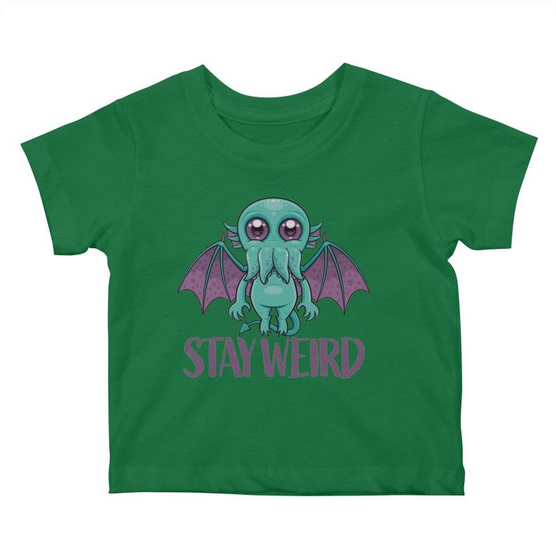 Stay Weird Cute Cthulhu Monster Kids Baby T-Shirt by Fizzgig's Artist Shop