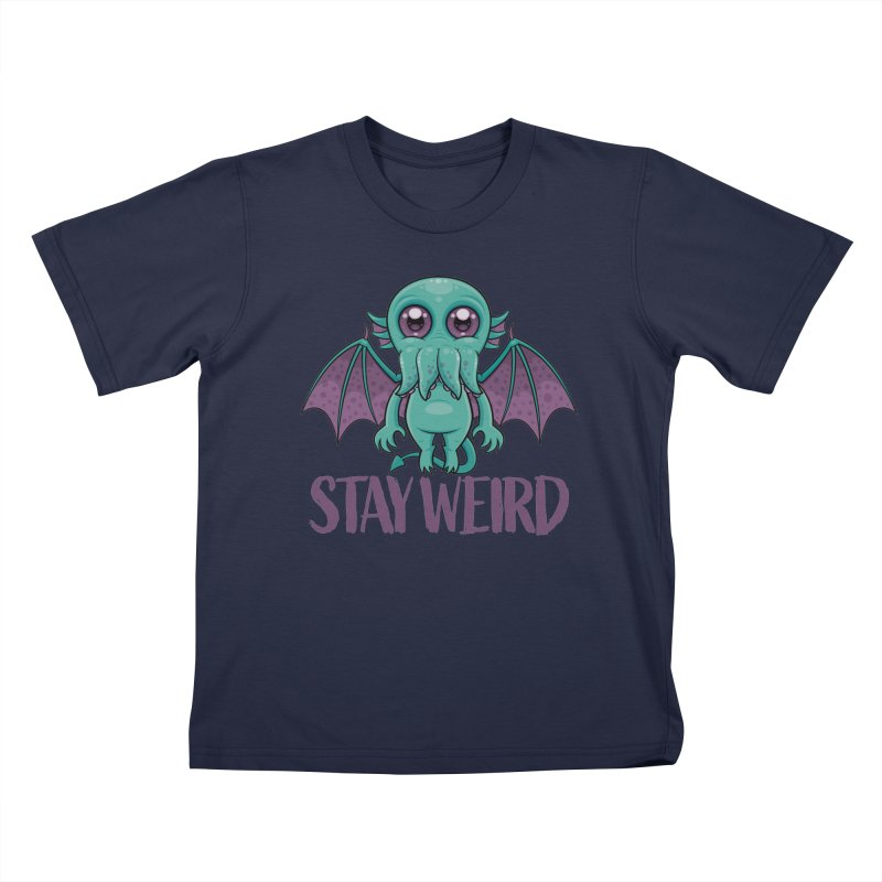 Stay Weird Cute Cthulhu Monster Kids T-Shirt by Fizzgig's Artist Shop