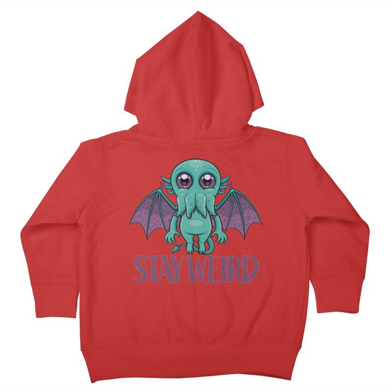 Stay Weird Cute Cthulhu Monster Kids Toddler Zip-Up Hoody by Fizzgig's Artist Shop