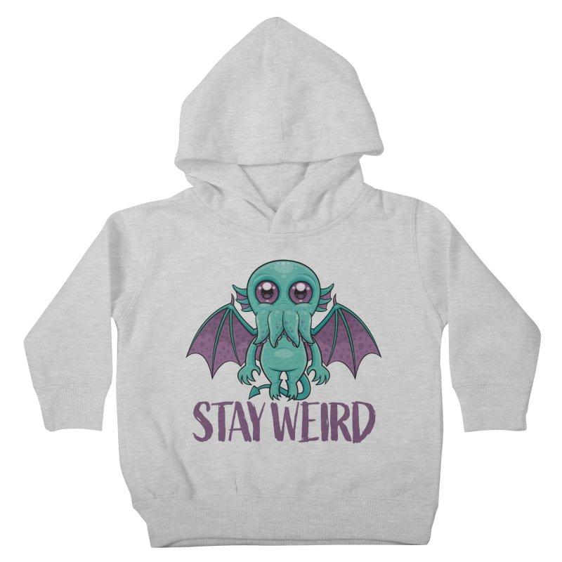 Stay Weird Cute Cthulhu Monster Kids Toddler Pullover Hoody by Fizzgig's Artist Shop