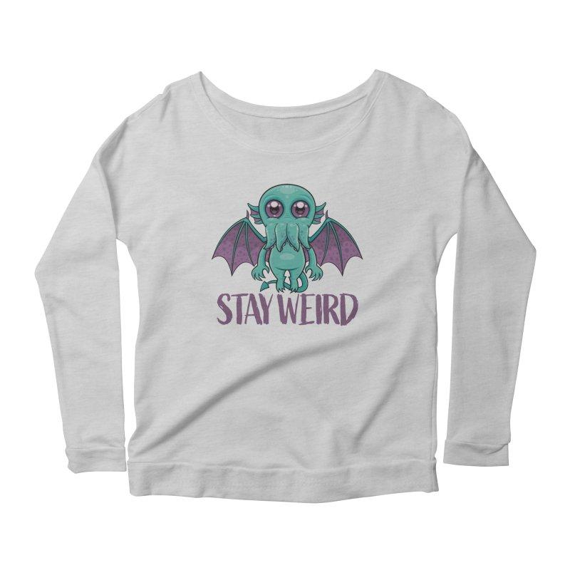 Stay Weird Cute Cthulhu Monster Women's Longsleeve T-Shirt by Fizzgig's Artist Shop
