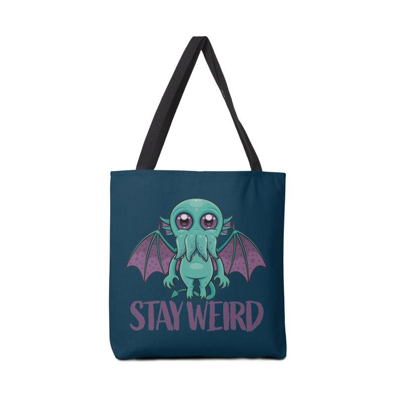 Stay Weird Cute Cthulhu Monster Accessories Bag by Fizzgig's Artist Shop