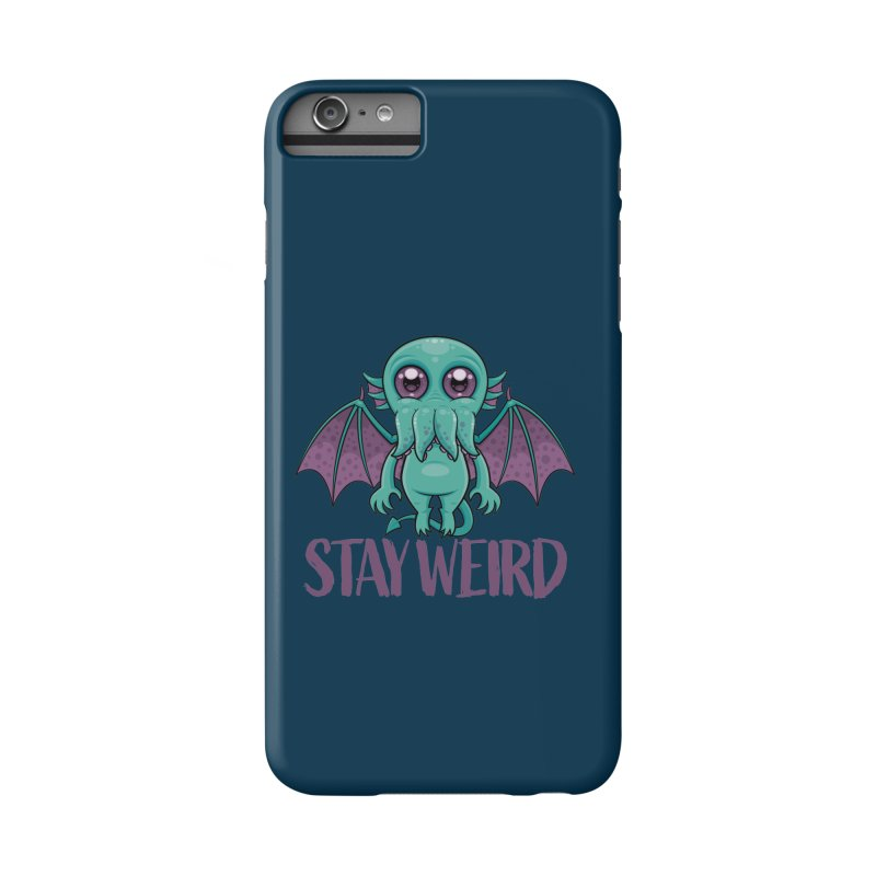Stay Weird Cute Cthulhu Monster Accessories Phone Case by Fizzgig's Artist Shop