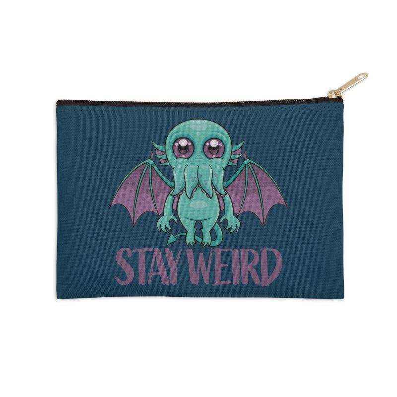 Stay Weird Cute Cthulhu Monster Accessories Zip Pouch by Fizzgig's Artist Shop