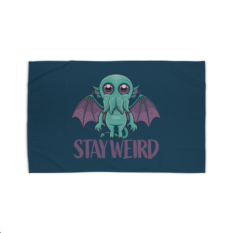 Stay Weird Cute Cthulhu Monster Home Rug by Fizzgig's Artist Shop