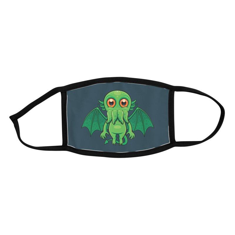 Cute Green Cthulhu Monster Accessories Face Mask by Fizzgig's Artist Shop