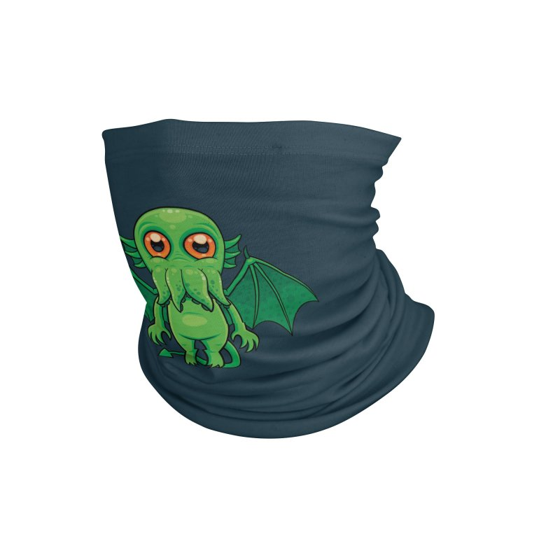 Cute Green Cthulhu Monster Accessories Neck Gaiter by Fizzgig's Artist Shop