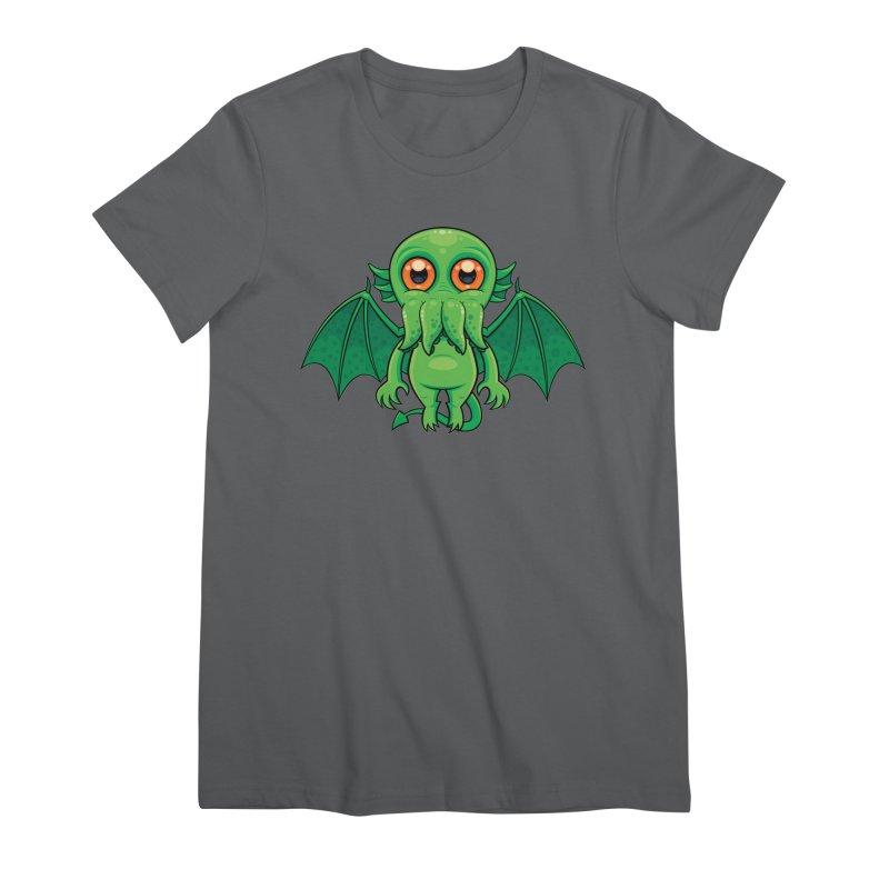 Cute Green Cthulhu Monster Women's T-Shirt by Fizzgig's Artist Shop