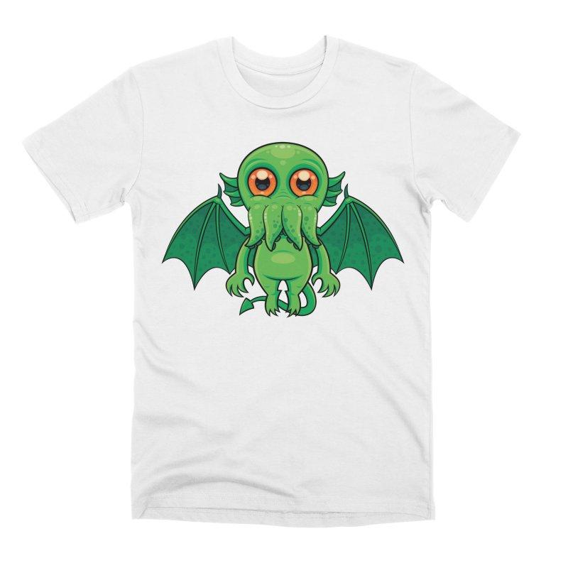 Cute Green Cthulhu Monster Men's T-Shirt by Fizzgig's Artist Shop