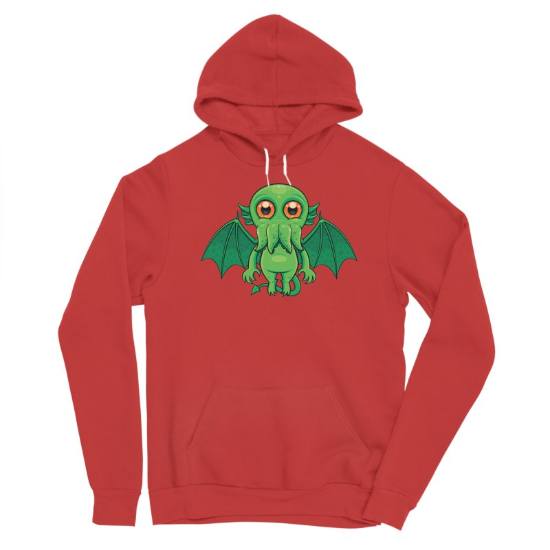 Cute Green Cthulhu Monster Men's Pullover Hoody by Fizzgig's Artist Shop