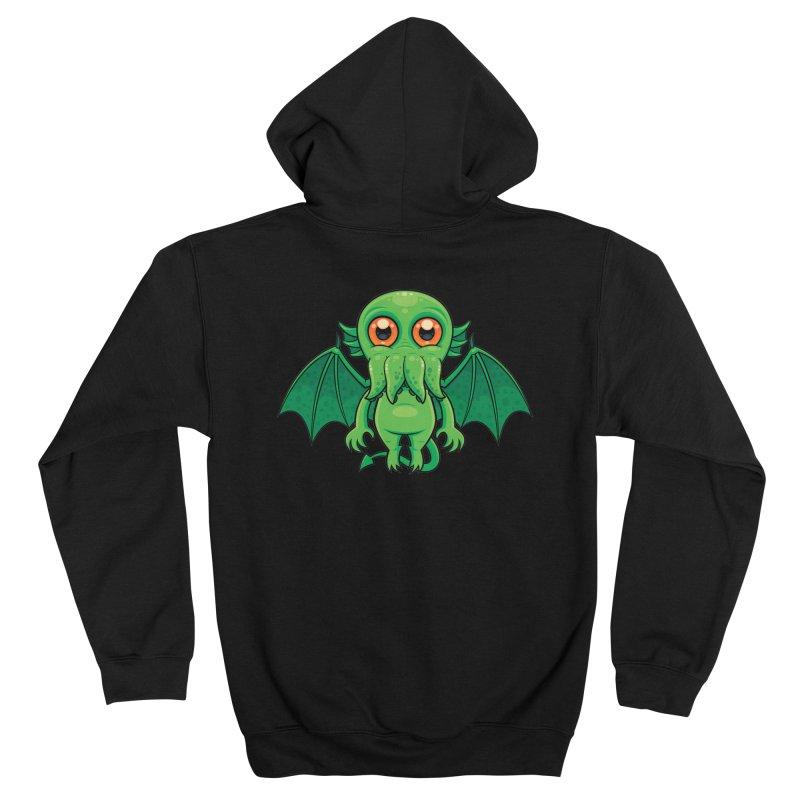Cute Green Cthulhu Monster Men's Zip-Up Hoody by Fizzgig's Artist Shop