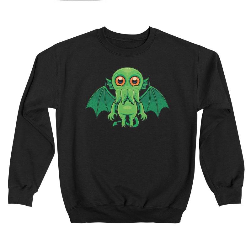 Cute Green Cthulhu Monster Women's Sweatshirt by Fizzgig's Artist Shop
