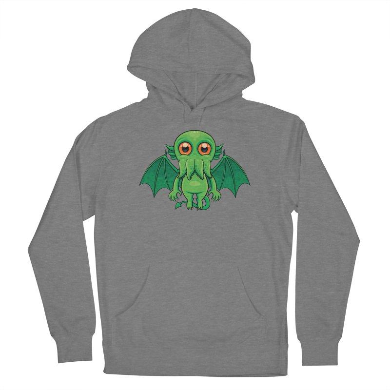 Cute Green Cthulhu Monster Women's Pullover Hoody by Fizzgig's Artist Shop