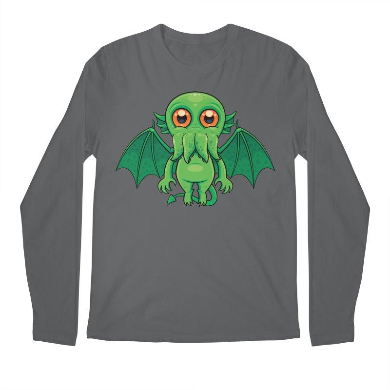 Cute Green Cthulhu Monster Men's Longsleeve T-Shirt by Fizzgig's Artist Shop