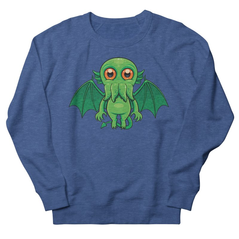 Cute Green Cthulhu Monster Men's Sweatshirt by Fizzgig's Artist Shop
