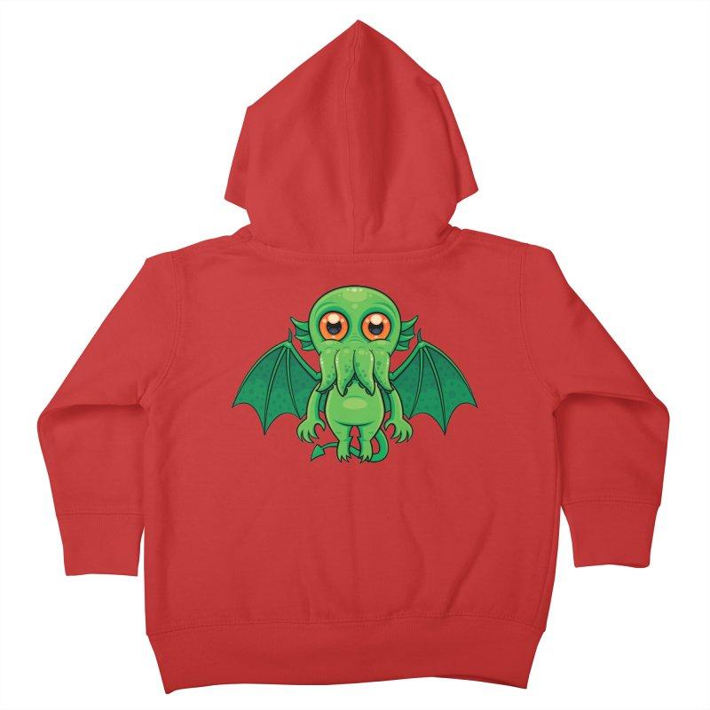 Cute Green Cthulhu Monster Kids Toddler Zip-Up Hoody by Fizzgig's Artist Shop