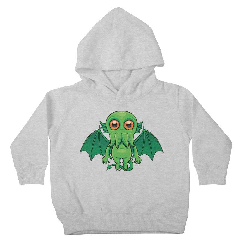 Cute Green Cthulhu Monster Kids Toddler Pullover Hoody by Fizzgig's Artist Shop