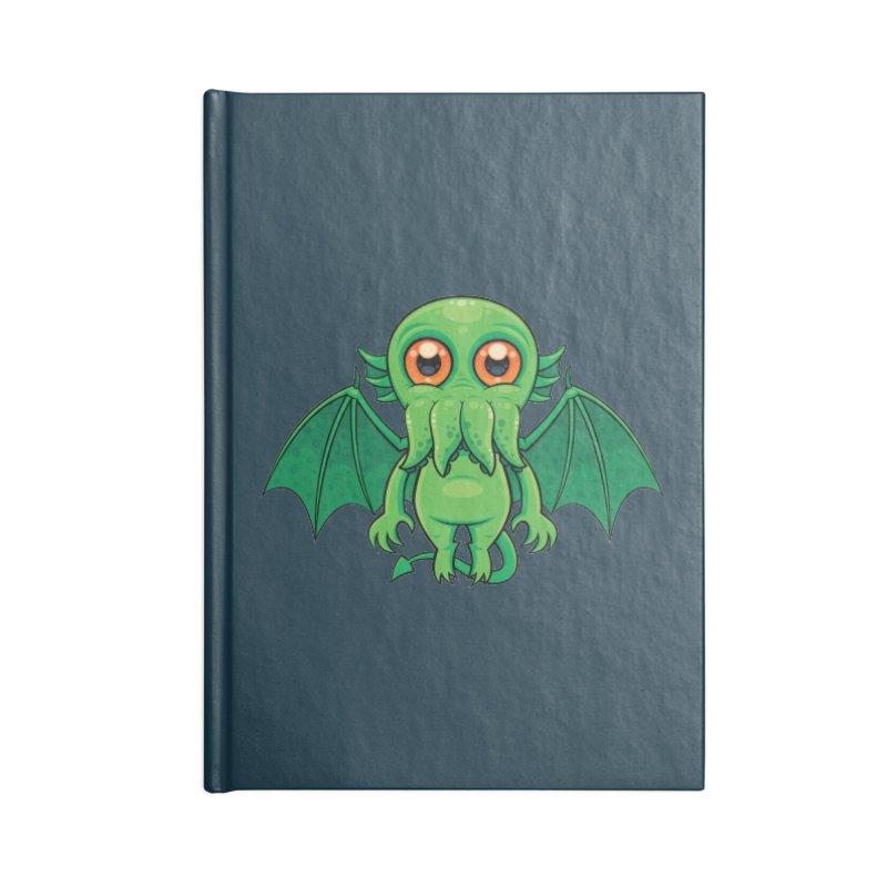 Cute Green Cthulhu Monster Accessories Notebook by Fizzgig's Artist Shop