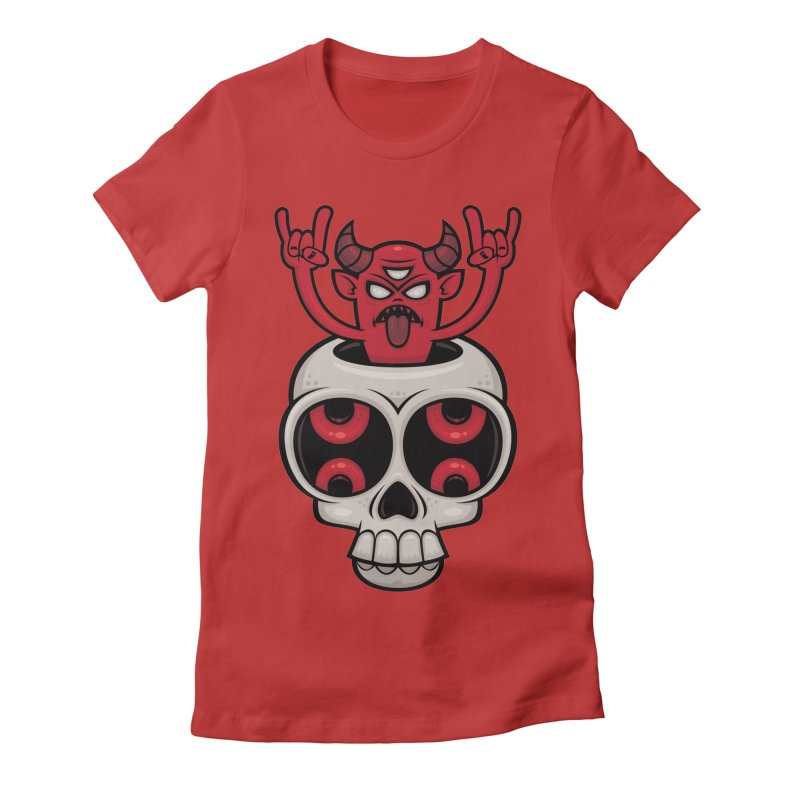 Possessed Women's Fitted T-Shirt by Fizzgig's Artist Shop