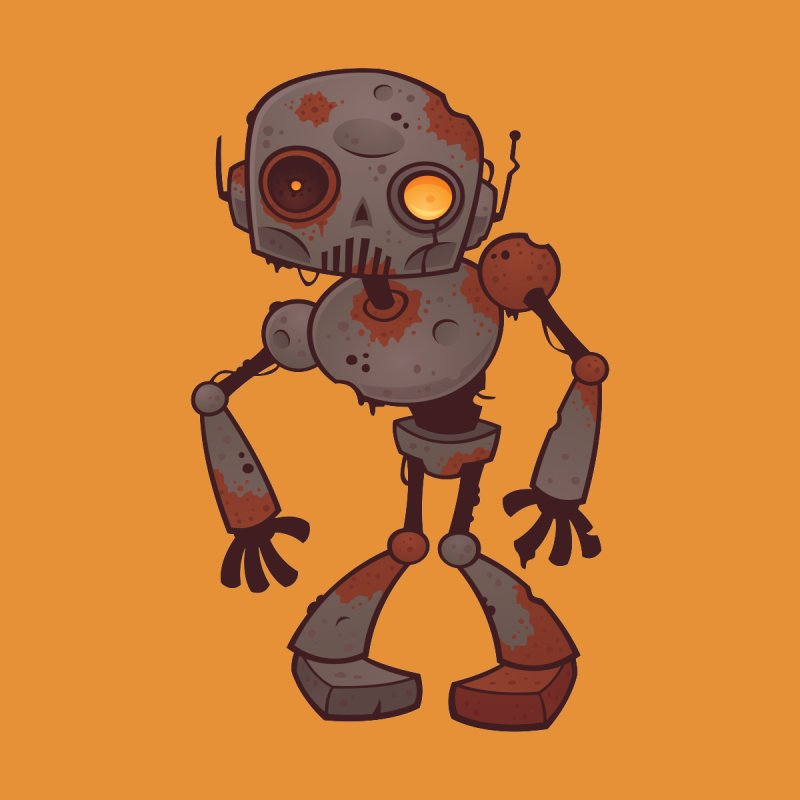 Rusty Zombie Robot by Fizzgig's Artist Shop