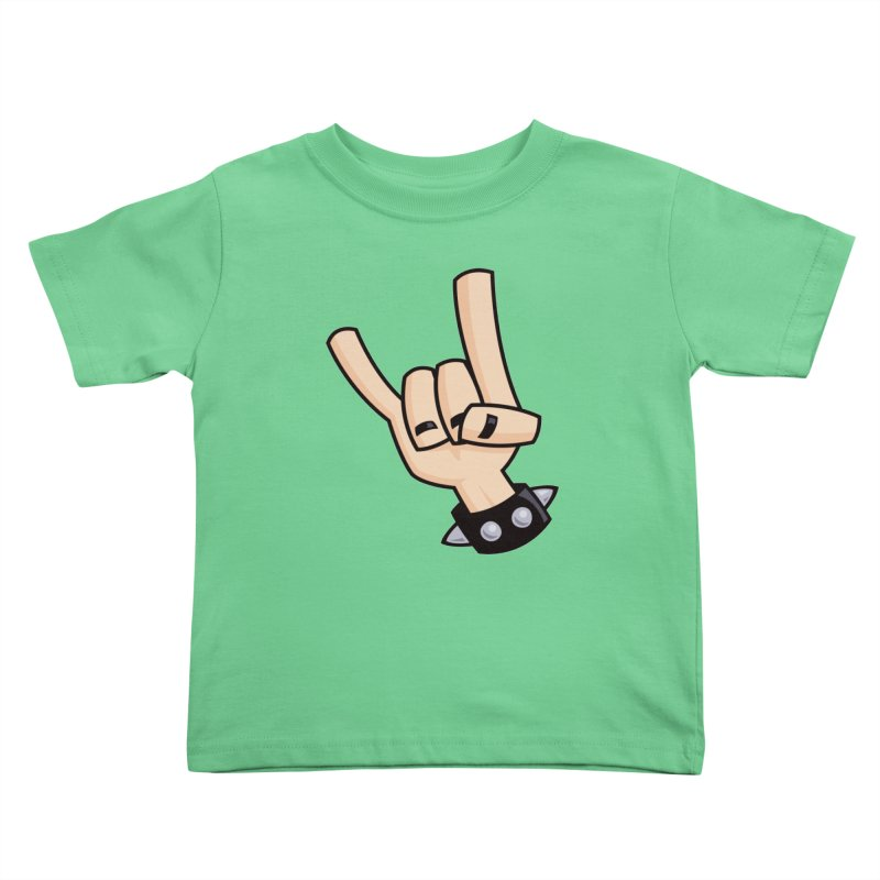 Devil Horns Kids Toddler T-Shirt by Fizzgig's Artist Shop