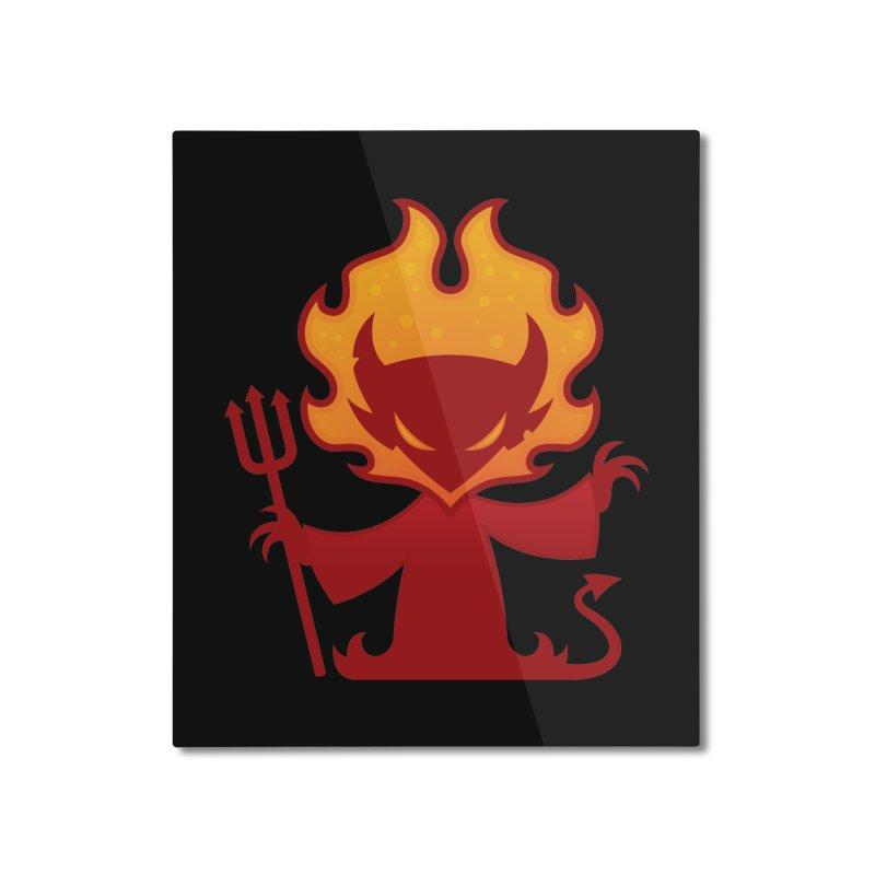 I'm The Devil Home Mounted Aluminum Print by Fizzgig's Artist Shop