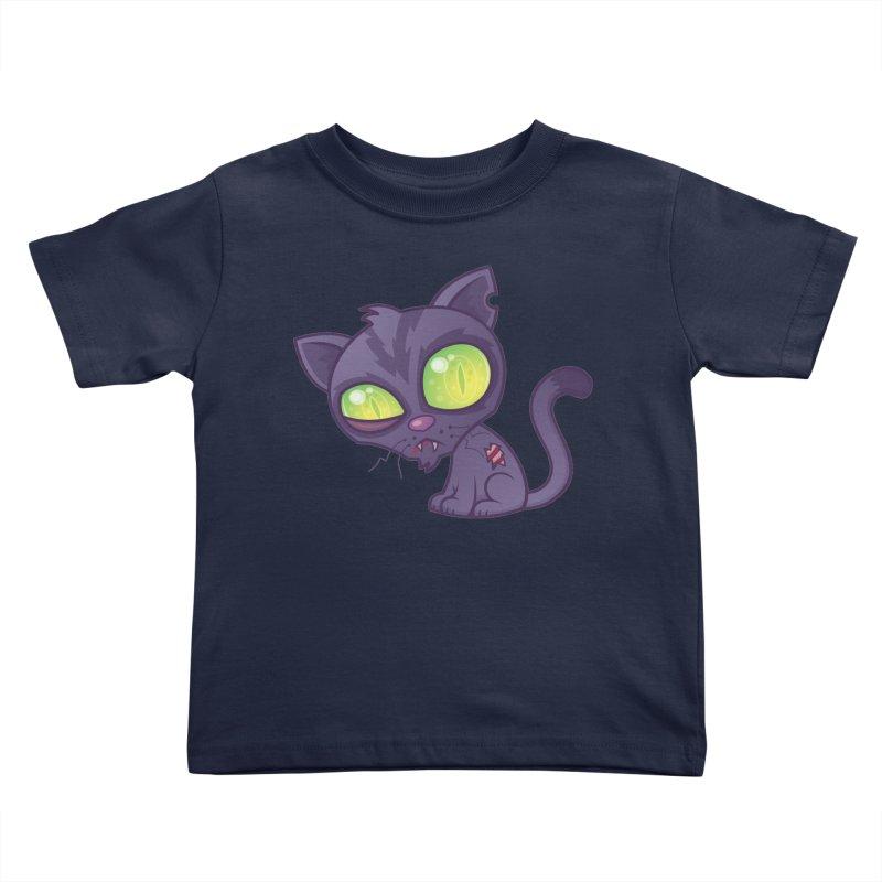 Zombie Kitty Kids Toddler T-Shirt by Fizzgig's Artist Shop