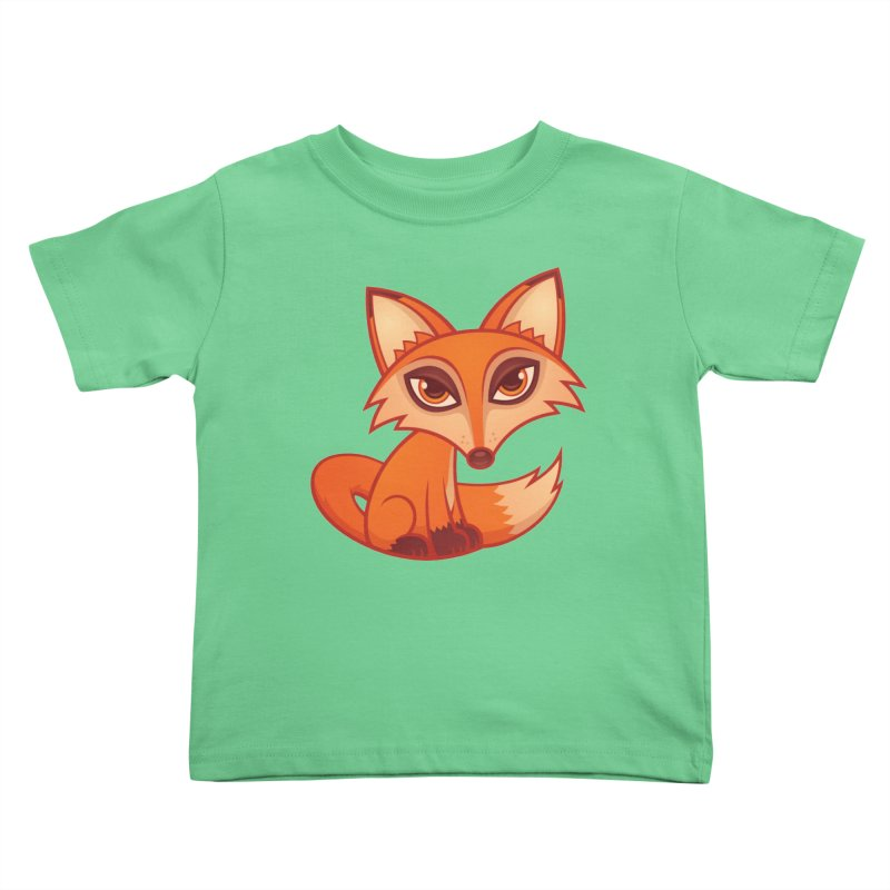 Cartoon Red Fox Kids Toddler T-Shirt by Fizzgig's Artist Shop