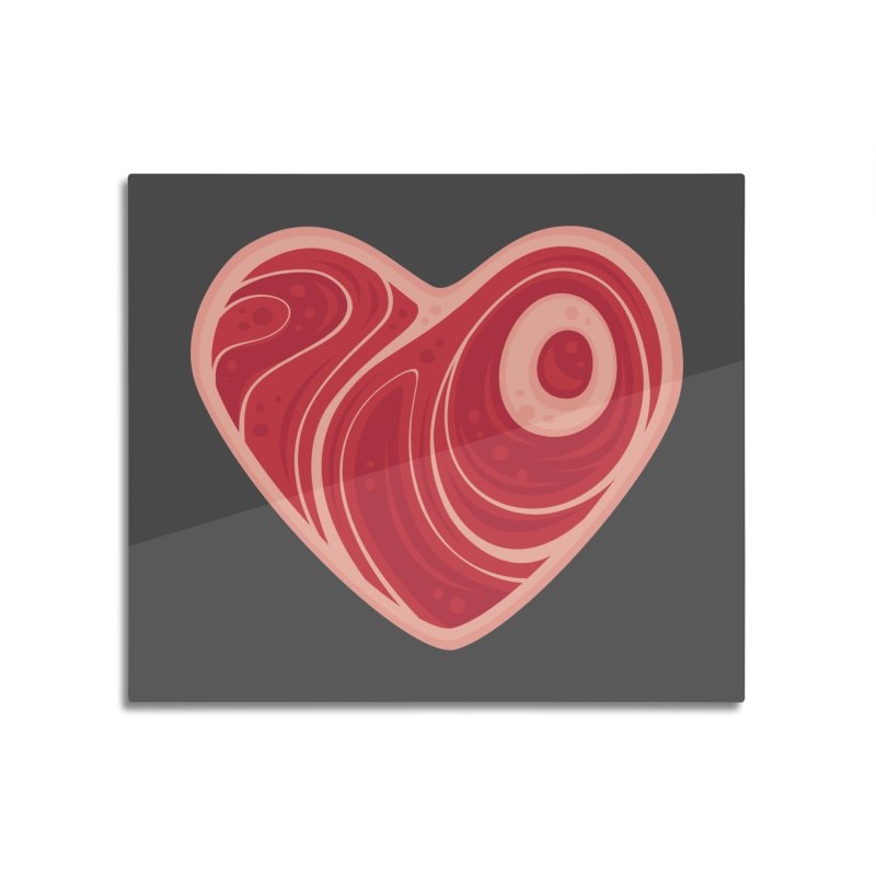Meat Heart Home Mounted Aluminum Print by Fizzgig's Artist Shop