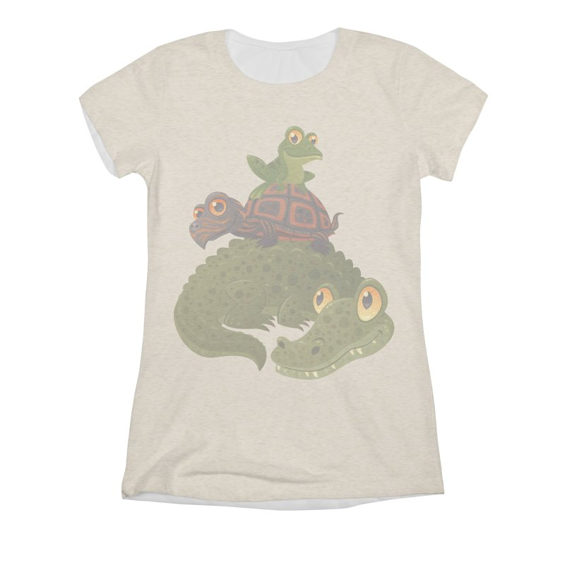 Swamp Squad Women's Triblend All Over Print by Fizzgig's Artist Shop