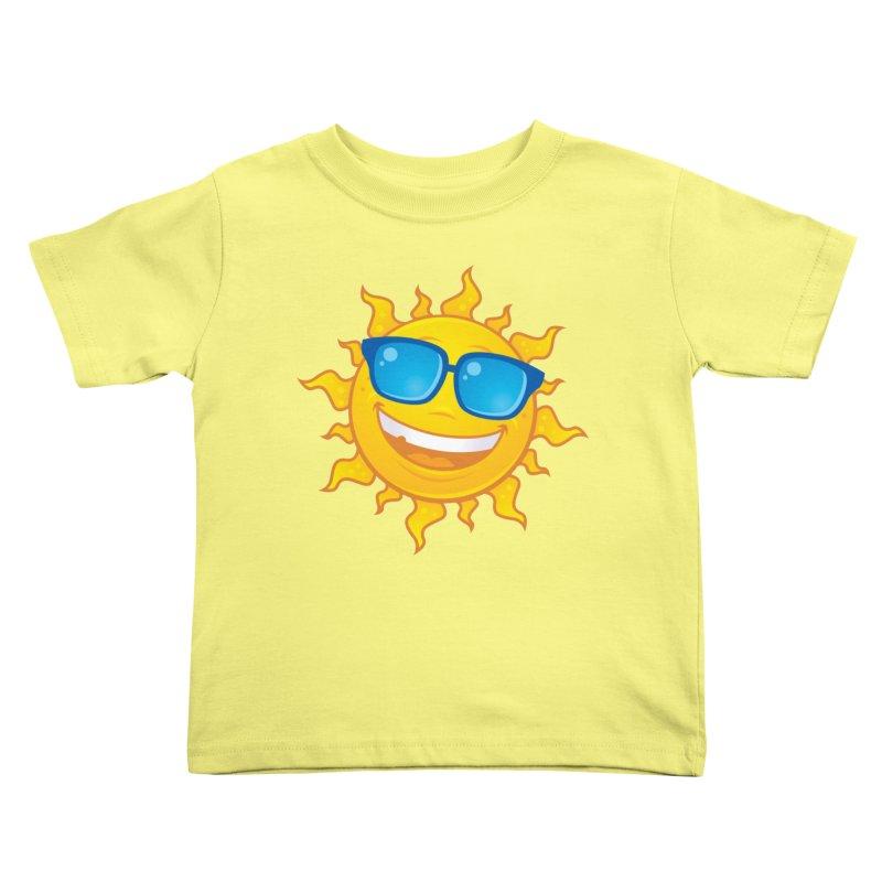 Summer Sun Wearing Sunglasses Kids Toddler T-Shirt by Fizzgig's Artist Shop
