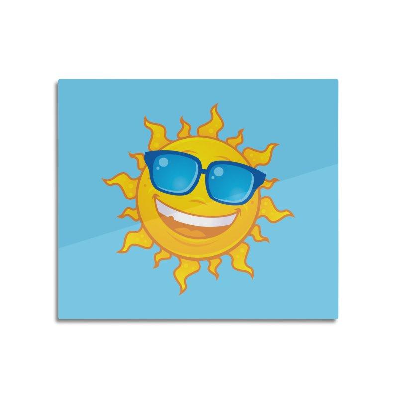 Summer Sun Wearing Sunglasses Home Mounted Aluminum Print by Fizzgig's Artist Shop