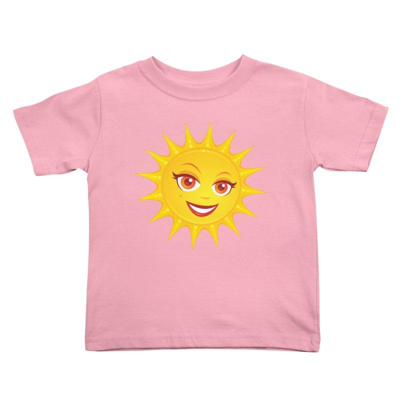 Hot Summer Sun Kids Toddler T-Shirt by Fizzgig's Artist Shop