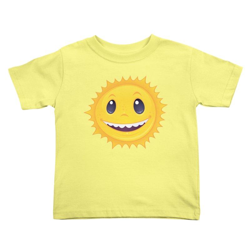 Smiley Sun Kids Toddler T-Shirt by Fizzgig's Artist Shop