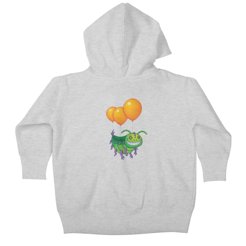 Impatient Caterpillar Kids Baby Zip-Up Hoody by Fizzgig's Artist Shop