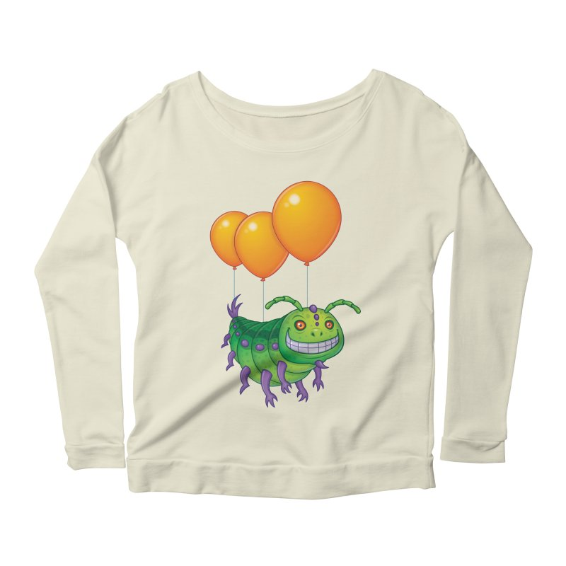 Impatient Caterpillar Women's Longsleeve Scoopneck  by Fizzgig's Artist Shop