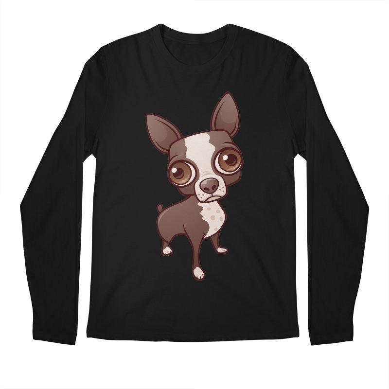 Zippy the Boston Terrier Men's Longsleeve T-Shirt by Fizzgig's Artist Shop