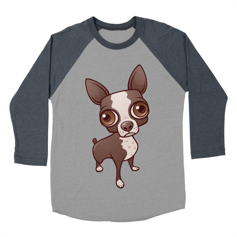 Zippy the Boston Terrier Women's Baseball Triblend T-Shirt by Fizzgig's Artist Shop