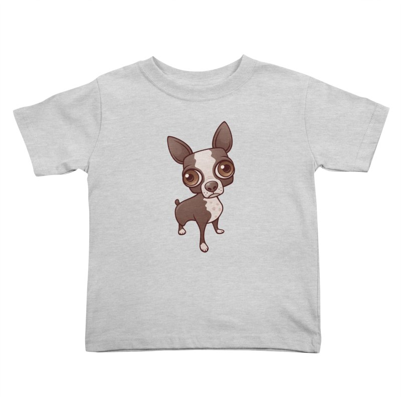 Zippy the Boston Terrier Kids Toddler T-Shirt by Fizzgig's Artist Shop