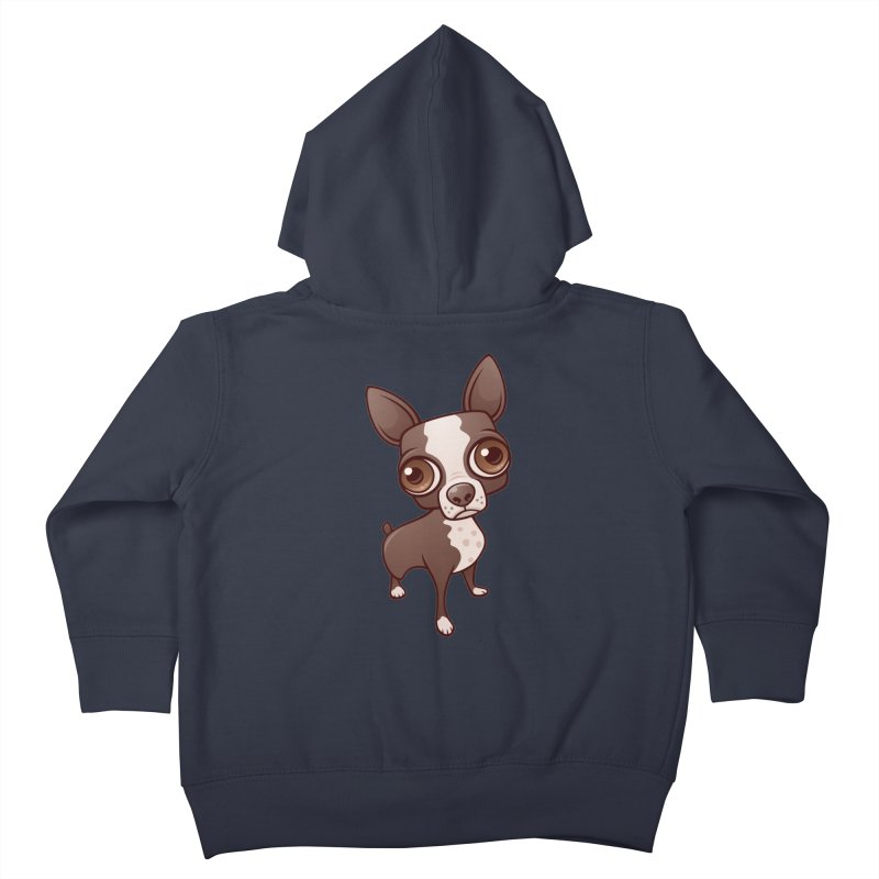 Zippy the Boston Terrier Kids Toddler Zip-Up Hoody by Fizzgig's Artist Shop