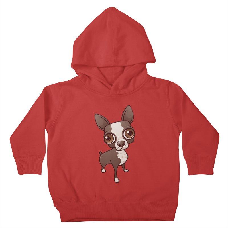 Zippy the Boston Terrier Kids Toddler Pullover Hoody by Fizzgig's Artist Shop