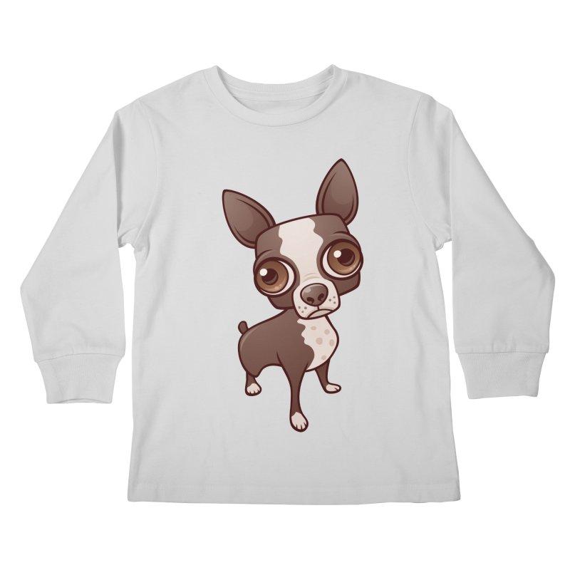Zippy the Boston Terrier Kids Longsleeve T-Shirt by Fizzgig's Artist Shop