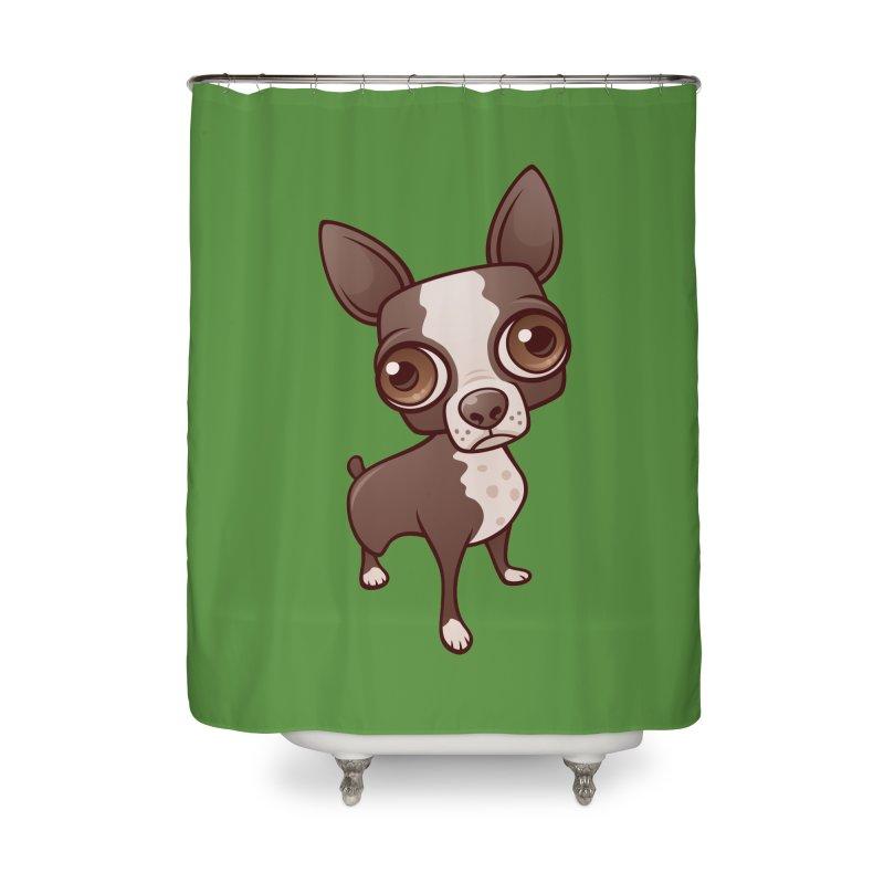 Zippy the Boston Terrier Home Shower Curtain by Fizzgig's Artist Shop