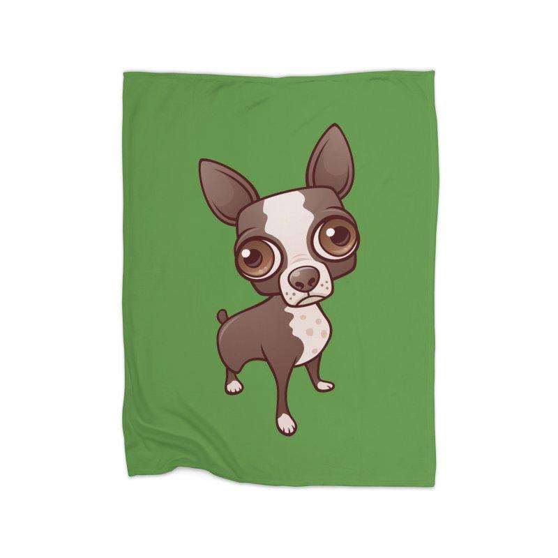 Zippy the Boston Terrier Home Blanket by Fizzgig's Artist Shop