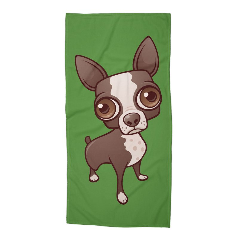 Zippy the Boston Terrier Accessories Beach Towel by Fizzgig's Artist Shop