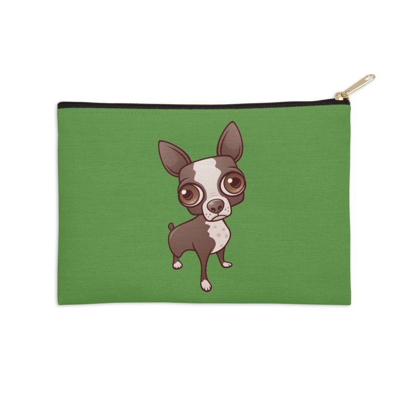 Zippy the Boston Terrier Accessories Zip Pouch by Fizzgig's Artist Shop